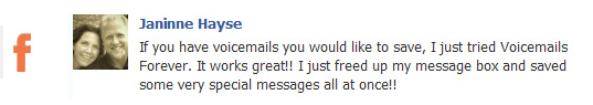 voicemails forever testimonial